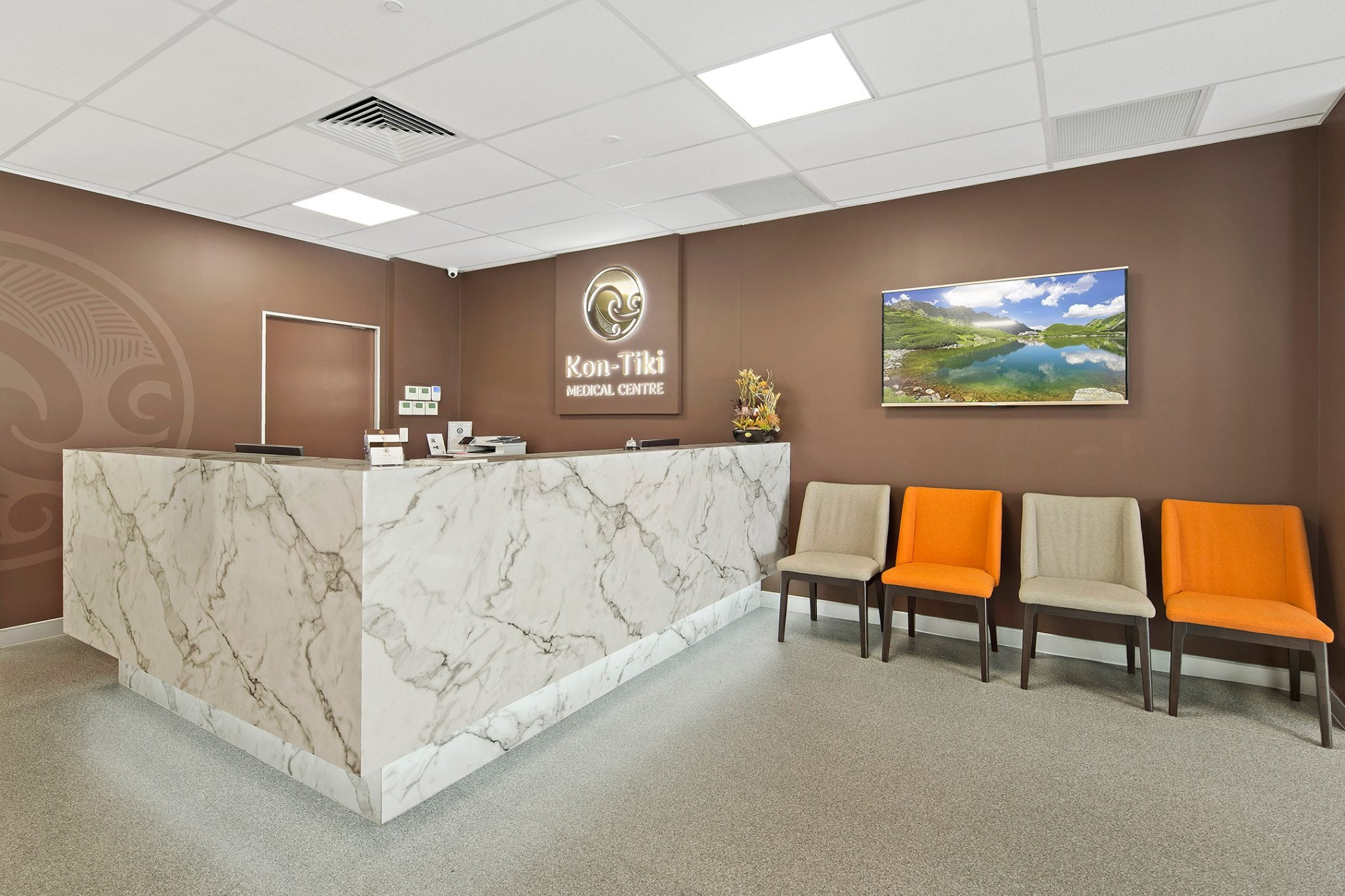 Kontiki Medical Centre Reception Desk And Chairs